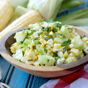 Sweet Corn Salad | Plaid and Paleo