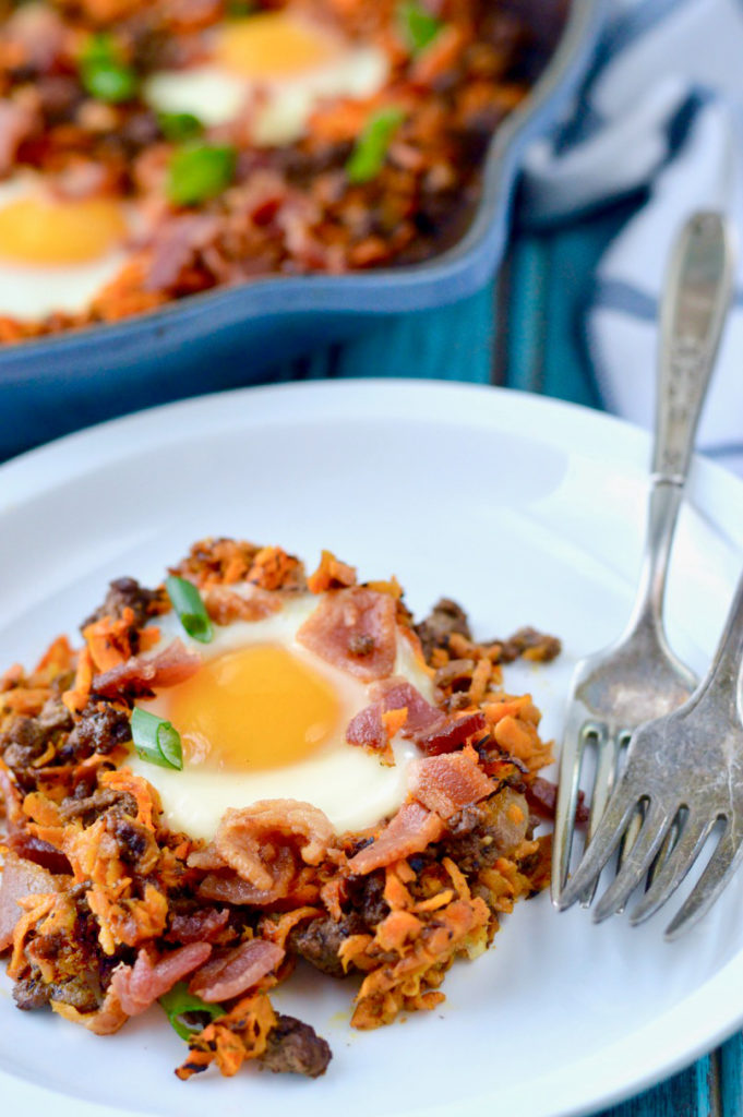 Paleo Bacon Burger Breakfast Hash | Plaid and Paleo