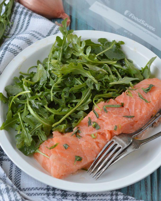 Easy Sous Vide Paleo Salmon | Plaid and Paleo