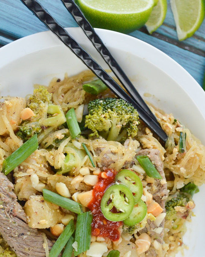 Paleo Pineapple Pad Thai | Plaid and Paleo